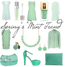 {trends} Loving Spring's Mint Trend, created by thefashionistyle.polyvore.com
