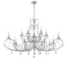 Dazzling Crystal Chandelier in Chrome Finish