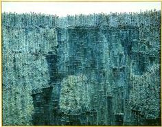 Kazuo Nakamura / Blue Reflections 1963 28 x 36 in. / oil on linen Canadian Painters, Canadian Artists, Abstract Expressionism, Abstract Art, Abstract Paintings, Water Background, Artwork Display, Art Database, Asian Art