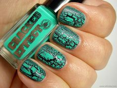 Mint Green Crackled..now and then, there is a crackle that stands out from the rest