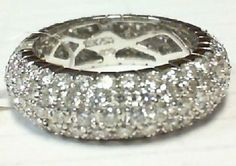 4ct Eternity band in 18k white gold VS1, F color for $4800 call (925)274 1444