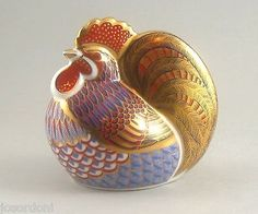 Royal Crown Derby Imari Paperweight Gold Button Boxed Cockerel Rooster C6 | eBay