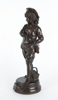 Wohl Frankreich um 1900En RécréationBronze; H 36 cm; an der Plinthe betitelt — Skulptur