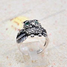 Wholesale Vintage Rhinestoned Women's Owl Shape Alloy Ring (COLOR ASSORTED,ONE SIZE), Rings - Rosewholesale.com
