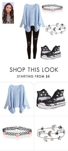 """""""Untitled #123"""" by pufferfishgal on Polyvore featuring River Island, WithChic, Converse, Accessorize, women's clothing, women's fashion, women, female, woman and misses"""