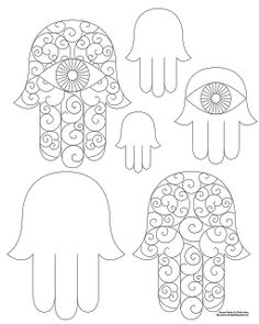 Dont Eat the Paste: Hamsa Coloring Page and Embroidery Patterns