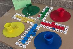 Cabellera Tutorial and Ideas Games For Kids, Diy For Kids, Crafts For Kids, Rock Crafts, Diy And Crafts, School Games, Diy Games, Backyard Games, Recycled Crafts