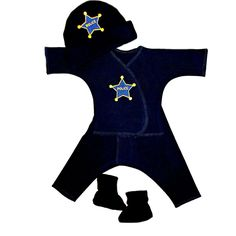 Baby Boy's Police Officer Clothing Set