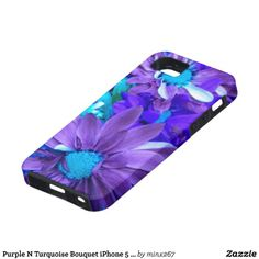 Purple N Turquoise Bouquet iPhone 5 Case Sold 6/10/14
