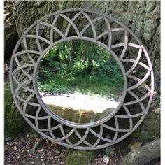 Round Garden Mirror with Metal Filigree Surround Garden Fencing, Garden Art, Garden Design, Home And Garden, Garden Ideas, Outdoor Mirror, Outdoor Decor, Mirror Illusion, Garden Mirrors