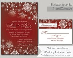 Hey, I found this really awesome Etsy listing at https://www.etsy.com/listing/168688178/snowflake-winter-wedding-invitations