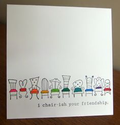Punny cards - crafts, fairy gardens, fabric and paper cards Funny Cards, Cute Cards, Diy Cards, Pun Card, Karten Diy, Friendship Cards, Friendship Bracelets, Watercolor Cards, Creative Cards