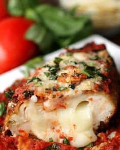 Prepare Yourself For Complete Satisfaction With This Stuffed Chicken Parmesan