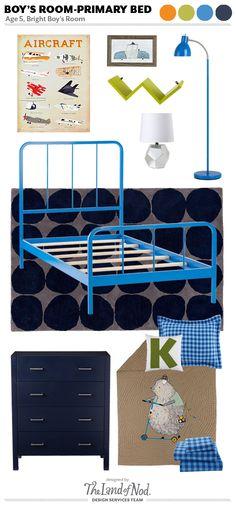 Boys Bedroom Design: Bright Blue Bedroom via honesttonod.com