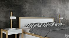 Hills - Bed & Bedside Table on Behance