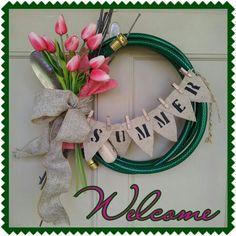 My summer front door wreath!