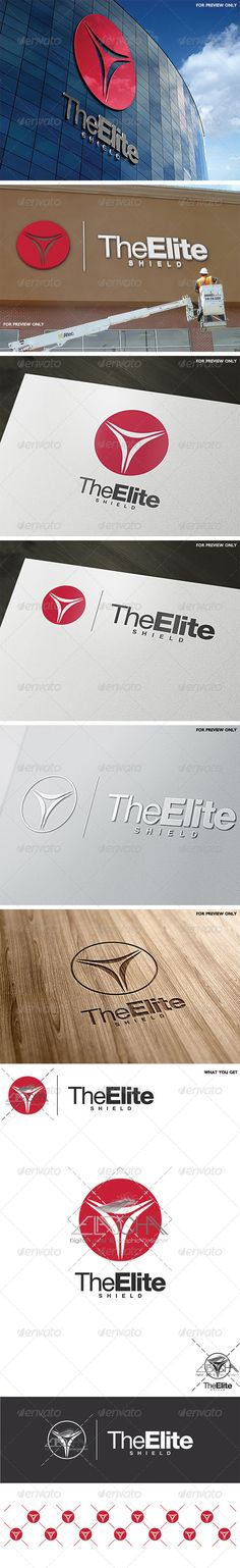 The Elite Shield Logo Template — Vector EPS #antivirus #scalene • Available here → https://graphicriver.net/item/the-elite-shield-logo-template/6488806?ref=pxcr