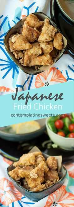 Japanese Fried Chicken- Karaage- An easy two-ingredient marinade makes this Japanese fried chicken accessible to anyone!