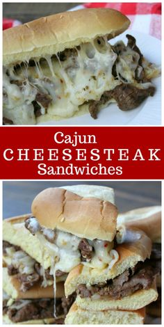 Cajun Cheesesteak Sandwiches