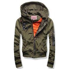 98d7cbb0c479 Dámská jarní podzimní bunda Argo khaki AKCE – zelená – stylová dámská bunda  pro jaro
