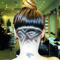 These lovely squiggles. | These Pretty Neck Designs Will Give Your Undercuts New Life