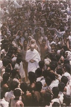 GANDHI vintage photo poster FAMOUS INDIAN POLITICAL FIGURE 24X36 spiritual