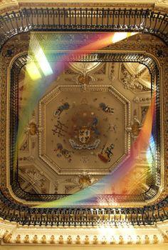Fabric Rainbows in Como by Gabriel Dawe