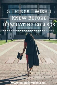5 Things I Wish I Knew Before Graduating College | Guest Post by Sam from Samanthability