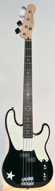 Indian Creek Guitars - Squier Mike Dirnt Precision Bass Guitar - Black, $239.00 (http://www.indiancreekguitars.com/squier-mike-dirnt-precision-bass-guitar-black/)