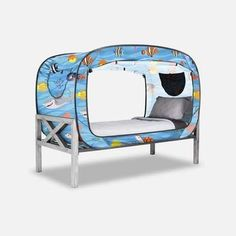 The Bed Tent for Better Sleep during naptime, bedtime, playtime and alone time. Girl Bedroom Designs, Girls Bedroom, Bedroom Decor, Bedroom Ideas, Floor Bed Frame, Van Conversion Interior, Futon Bed, Bed Tent, Bed Springs