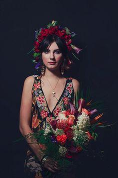 frida kahlo wedding inspiration by Mari Sabra Photography