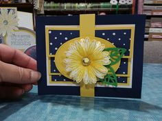 Daisy Delight Bundle was used to make this card for a Fun Fold Challenge I was in this month... LOVE the paper, the stamp set and the punch!!!!! all from stampin Up