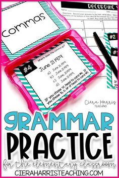 If you're looking for grammar practice activities for elementary students, this post is for you! The activities included are great for 2nd, 3rd, and 4th grade. Click the pin to check out all the fun ideas included!