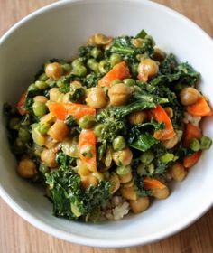 Delicious Chickpea Kale Stew that is low-fat and 100% Healthy, Vegan, and Gluten-Free. Enjoy anyday!