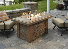 Linear Sierra Fire Pit Table- would look great at the lake!