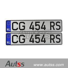 netherlands registration plate, license plate