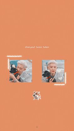 chanyeol and toben: pets lockscreen 🐶🐰 Chanyeol Cute, Park Chanyeol Exo, Kpop Exo, Baekhyun, Exo Wallpaper Hd, Boys Wallpaper, Exo Album, Exo Lockscreen, Bts And Exo