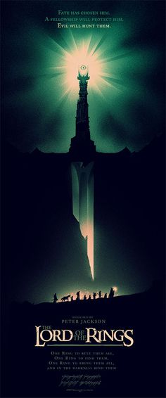 Lord Of The Rings By Olly Moss 15 X 36 Screenprint