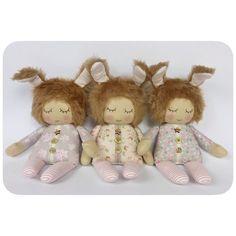 Three sleepy Easter bunnies #dollmaker #easter #easterbunnies #handmade #clothdolls #ragdoll #tildafabric #bunnies #rabbits #etsyseller #etsyshop #sewing #lybodolls #bunny #easterbunny #bunnyrabbit