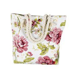 WELLVO brand 2016 Hot Selling Women Bag Canvas women Handbags Fashion Flower Print Stripes Large Beach Bags Shoulder Bag XA469B