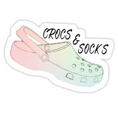 White Crocs and Socks Sticker in 2019  Products  Crocs