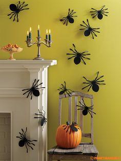 Ragni di carta da utilizzare come decorazioni di Halloween pronti da stampare e ritagliare