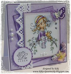 . Sweet Blossom, Hobby House, Baby Girl Cards, Whimsy Stamps, Easel Cards, Card Maker, Copics, Digital Stamps, Creative Cards