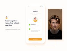 Online Identity Onboarding Mobile App UI UX on Behance App Ui Design, Mobile App Design, Web Design, Facial Recognition, Face Analyzer, Scanner App, App Design Inspiration, Mobile App Ui, Apps