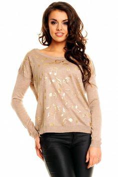 Sweterek 8229 NUTKI brązowy