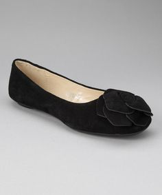 $18.99/64.00 - donnabella Black Suede Rose Flat by donnabella on #zulily today!  starts March 3, 2013
