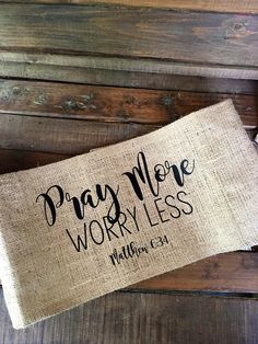 Burlap Pillow Wrap  Bible Verse  A personal favorite from my Etsy shop https://www.etsy.com/listing/479920893/burlap-pillow-wrap