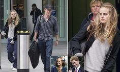 Together the day after the society wedding, Harry and Cressida dress down as they return home by train