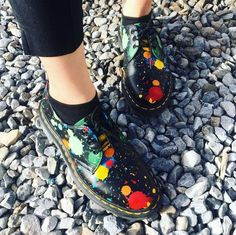 The 1461 Paint Splatter shoe, shared by fashionbombay.