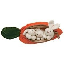 a carrot full of rabbits
